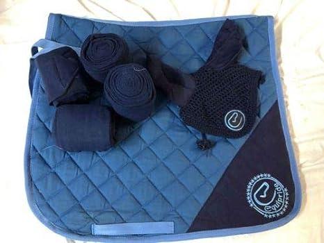 Color Azul Juego de Almohadillas para sill/ín con Velo y Vendas a Juego Equipride