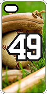 iphone covers Baseball Sports Fan Player Number 49 Clear Rubber Decorative Iphone 6 plus Case