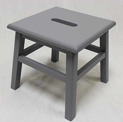 eHemco Hardwood Footstool in Grey-12