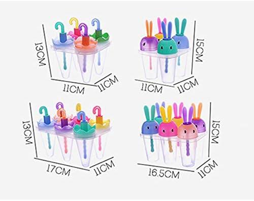 aloiness Regenschirmform Eisformen Sch/ön 4 Eisformen Popsicle Formen Set EIS am Stiel Formen Eiscreme Halter Wassereis Silikon Eislutscher f/ür Kinder und Erwachsene