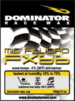 DOMINATOR MID-FLUORO HOT WAX FOR MEDIUM HUMIDITY SNOW, YELLOW, WET ()