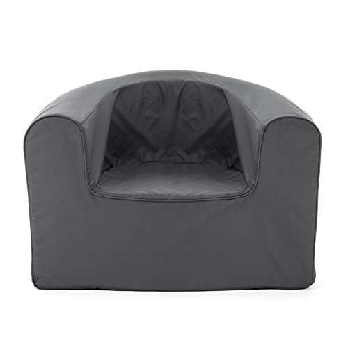 PopLounge Expandable Foam Furniture Armchair, Castlerock Gray, 35'' x 28'' x 26'' by PopLounge