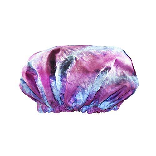 Betty Dain Trendy Turban Comfort Fit Shower Cap, Tie Dye