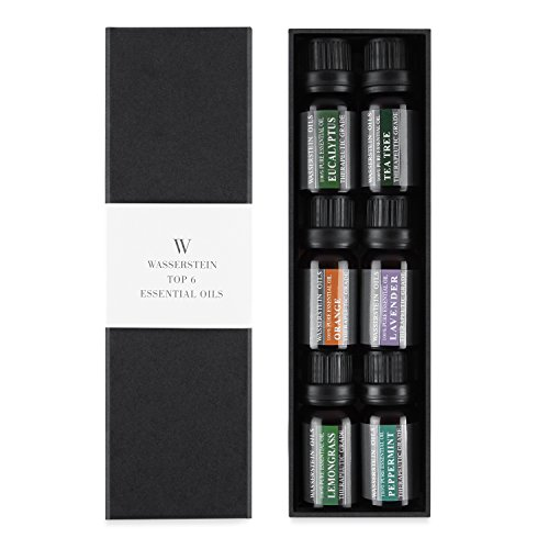 Large Product Image of Aromatherapy Oils 100% Pure Basic Essential Oil Gift Set by Wasserstein (Top 6, 10ml) …