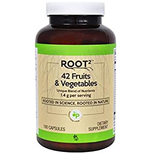 Vitacost ROOT2 42 Fruits and Vegetables 1.4 Gram Per Serving – 180 Capsules