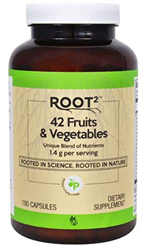 (Vitacost ROOT2 42 Fruits and Vegetables 1.4 Gram Per Serving - 180 Capsules)