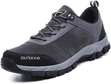メンズ トレッキングシューズ 登山靴 ローカット 27.5cm 軽量 ハイキングシューズ 厚い底 暖かい 防滑 ハイシューズ グレー 耐摩耗性 アウトドア ハイシューズ 遠足 クッション性 旅行 男女兼用 大きいサイズ ウォーキングシューズ