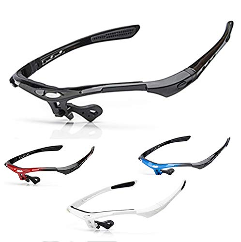 Adisaer Bicycle Goggles Cycling Outdoor Bicycle Sunglasses Frame Goggles Black for Mens