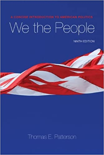 We The People Thomas Patterson 9780073379067