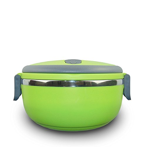 Parsons Bento Lunch Boxes. Stainless Steel Interior. One-Tier Tiffin For Hot and Cold Food. Leak Proof. Green