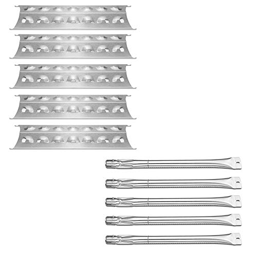 Uniflasy Grill Burner and Heat Plate Replacement Parts Kit for Master Forge 3218LT, 3218LTM, 3218LTN, 2518-3, Kenmore 2518SL-2003-N, 148.1637110, 148.1615621, Master Chef L3218