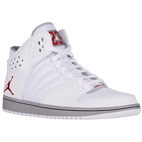 Nike Jordan 1 Flight 4 Prem, Zapatillas de Baloncesto para Hombre white gym red wolf grey black 103