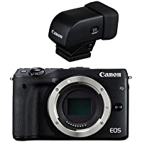 Canon EOS M3 Mirrorless Camera Body, Black - With Canon EVF-DC1 Electronic Viewfinder