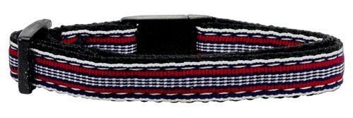 Preppy Stripes Nylon Ribbon Collars Red/White Cat Safety (24 Pack) [Misc.]