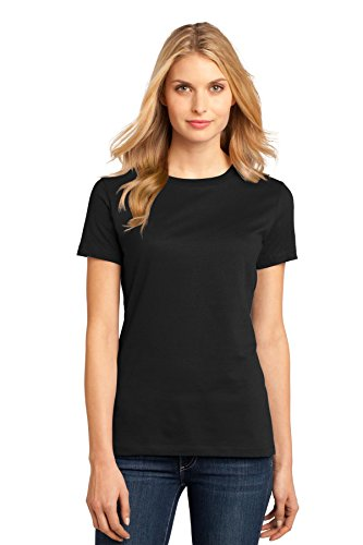 District Made Women's Perfect Weight Crew Tee S Jet Black from District Made