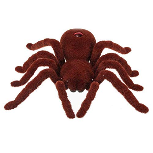 (Remote Control 11inch 2CH Infrared RC Tarantula Spider Prank Toy Kid Christmas Gift)