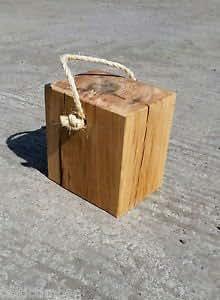 Celtic madera hermoso hecho a mano roble haz tope de puerta, casa de campo, Kitch, granero, Farmhouse.