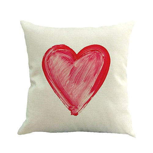 Paymenow Couples Pillowcases Love Heart Throw Pillow Square Cushion Cover Cute Sweet Valentines Day Gifts for Girlfriend Boyfriend Wedding Gift Anniversary Gift (E, 18'' X 18'')