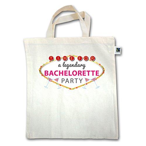 JGA Junggesellinnenabschied - Bachelorette Party Schild - Unisize - Natural - XT500 - Jutebeutel kurzer Henkel 5LufMw