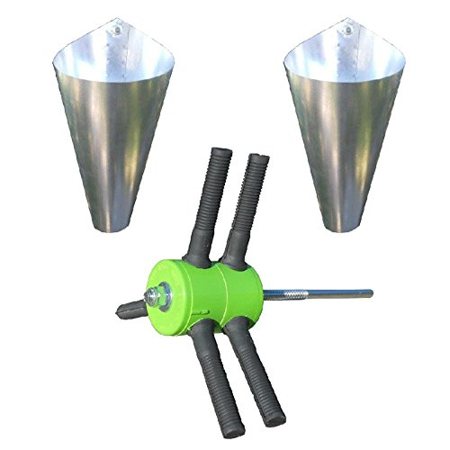 Power-Plucker-Feather-Remover-TWO-Medium-Restraining-Cones-Chicken-Poultry-Processing