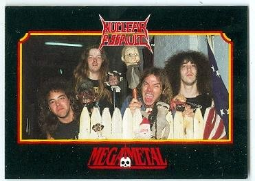 Nuclear Assault trading card 1991 MegaMetal