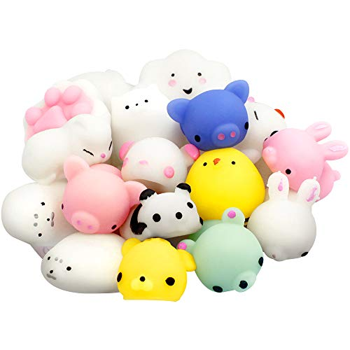Mochi-Squishies-Stress-Relief-Toys-20-PCS-Kawaii-Animal-Squichies-Toys-Cute-Design-Soft-Squishies-Animal-Stress-Decompression-Toys-Mini-Rising-Panda-Seal-Polar-Bear-Fox-Rabbit-Cat-and-More-Squishies