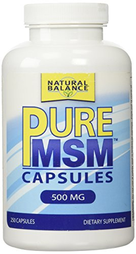 Natural Balance 500 mg Pure MSM Nutritional Supplement, 250 Count (Natural Powder Msm Balance)