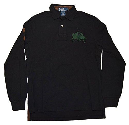 Fit Match Custom (RALPH LAUREN Polo Men Big Pony Match Custom Fit Shirt Black Brown Green Medium)