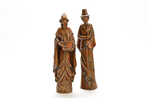 Rustic Pilgrim Man & Woman Figurine Set
