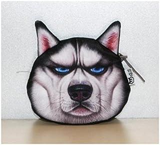 HOUHOUNNPO Sac de Rangement Pliable de Mode Chien cosmétique Pouch Bag Make-up Sac Porte-Monnaie (Noir) Pochette Cosmétique Femme