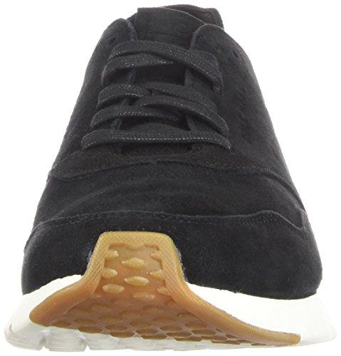 Cole Haan Mens Mens Grandpr Decostruito Da Corsa Sneaker In Pelle Scamosciata Nera