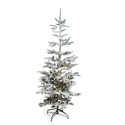 Northlight 9' Pre-Lit Noble Fir Flocked Artificial Christmas Tree - Warm Clear LED Lights ()