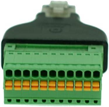 Davitu RJ50 connector RJ50 to SpringTerminal Adaptor RJ50 Male to 11 Pin connector RJ50 splitter for CCTV DVR