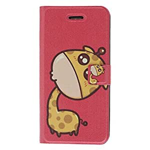 GHK - Fragrant Smell Cartoon Giraffe Pattern Full Body Case with Matte Back Cover and Stand for iPhone 5/5S (Assorted Colors) , Blue