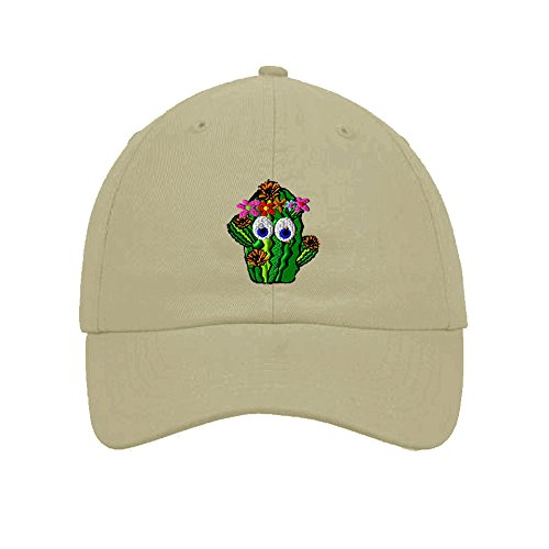 Speedy Pros Cotton Low Profile Hat Cactus Girl West Flowers Embroidery Stone (Flower Embroidery Stones)