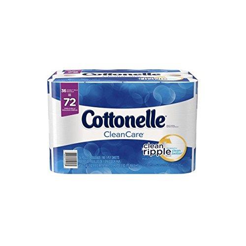Cottonelle Clean Care Double Roll Toilet Paper, 190 sheets, 36 rolls (Cottonelle Roll Double Toilet Paper)