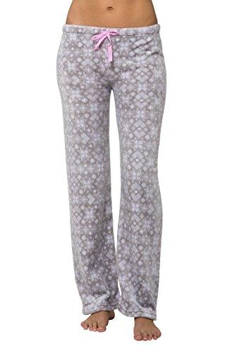 Nomad Womens Luxury Soft Sleepwear Plush Fuzzy Pajama Bottoms Loungewear for Ladies - Grey, Large - Cheap Women Bottoms
