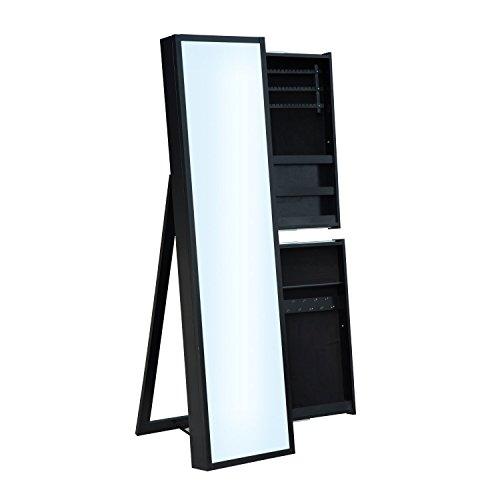 HomCom Mirrored Jewelry Cabinet Organizer product image