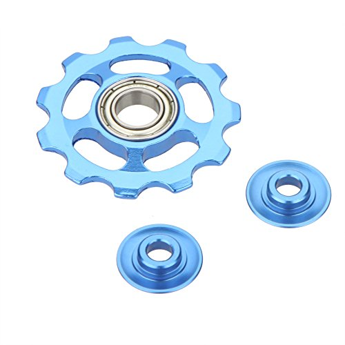 11T 9g Aluminum Alloy MTB Mountain Bike Road Bicycle Rear Derailleur Guide Roller Idler Pulley Jockey Wheel Part Accessory color -