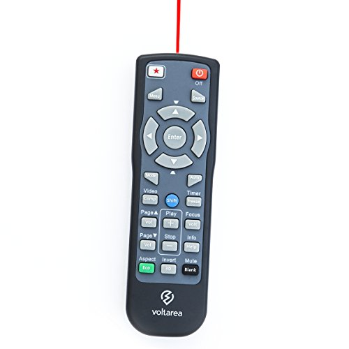 Remote Control for Epson PowerLite 93 + plus Projector with Laser Pointer by Voltarea