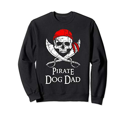 (Pirate Dog Dad Family Jolly Roger Skull)