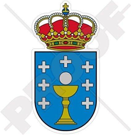 Galicia Gallego escudo Insignia escudo España español 115 mm (4,5 cm) vinilo pegatina, Skin: Amazon.es: Coche y moto