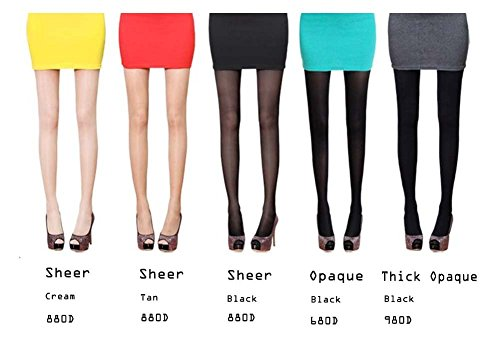 Sassy Pippi Mujer Magic Slim pierna Ultra alta compresión medias, LEGGINGS Cream Sheer Leggings-880D