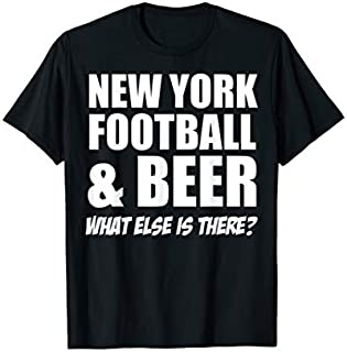 Football New your football & beer Football T-shirt | Size S - 5XL