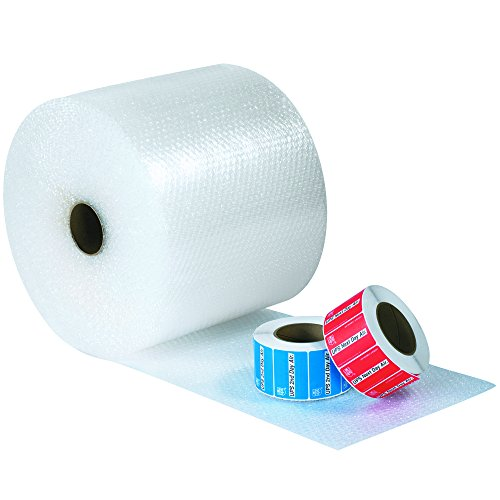 """Tape Logic TLBWUP12S12MS Small Cushion Bubble Rolls for Moving, 12"""" W x 125' L, 1/2"""" Bubble Height, 0.5"""" Height, 12"""" Width, 1500"""" Length, Clear"""