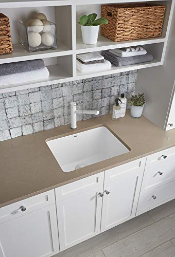 """BLANCO, White 401927 LIVEN SILGRANIT Drop-In or Undermount Utility Laundry Sink, 25"""" X 22"""""""