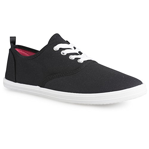 Sneakers Lace-up In Tela Chillipop Per Juniors Nero / Bianco
