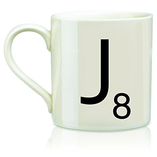 SCRABBLE Vintage Ceramic Letter J Tile Coffee Mug