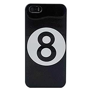 Billiards Black Number 8 Ball Hard Case Cover for iPhone 5/5S
