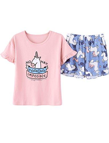 Big Girls Lovely Summer Shorts Pajama PJS Toddler Sleepwear(8y-16y) by Leisure Home